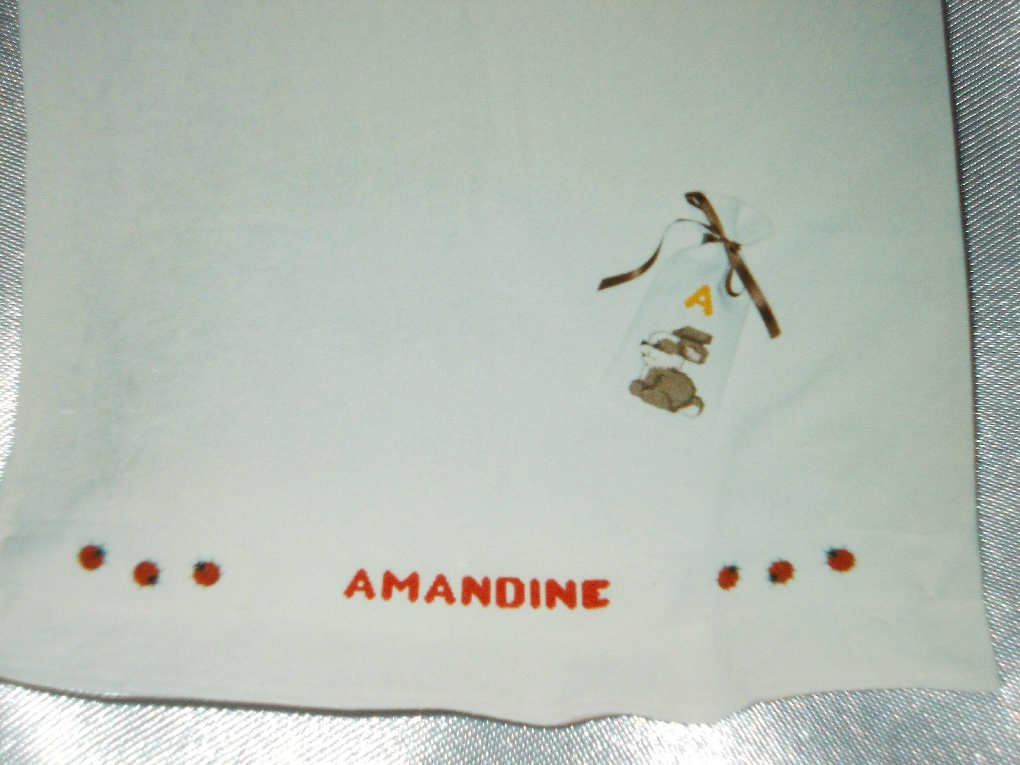 LAPIN - photo sur un DRAP de BAINS AMANDINE