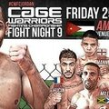 Cage warriors fight night 9: fightcard/promo