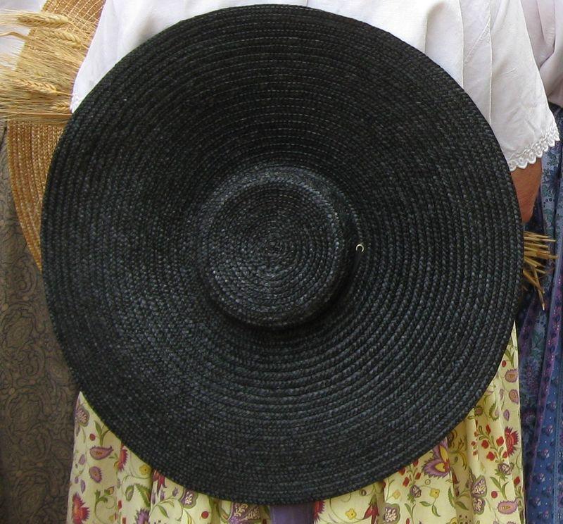 Chapeau de paille de riz ou de paille d'Italie, noir pour les pe