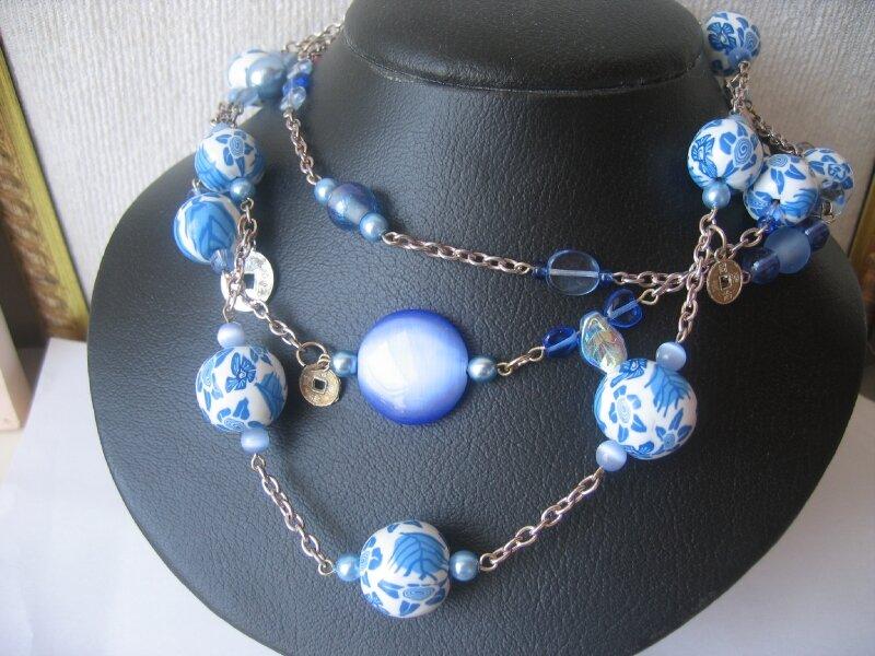 ensemble porcelaine bleue