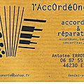 Nouveau service aux accordéonistes. une bonne