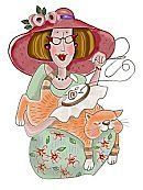 chat-chapeau-rose brode