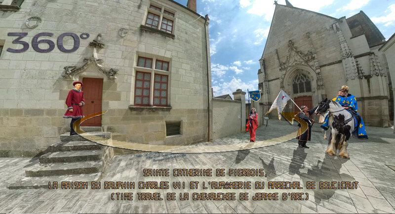 Sainte Catherine de Fierbois, la maison du Dauphin Charles VII et L'aumônerie (Time Travel de la chevauchée de Jeanne d'Arc)