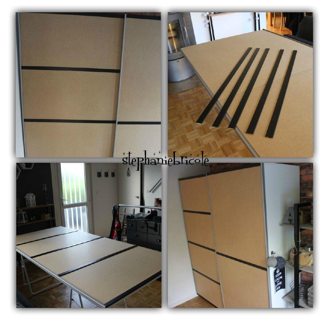 Creer Des Portes De Placard Coulissantes donner un air industriel à une armoire coulissante blanche