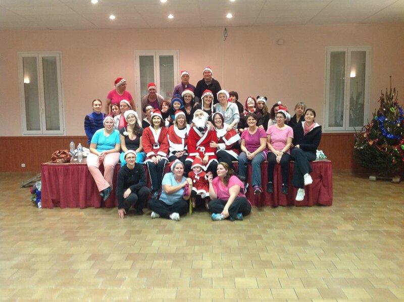 Les adeptes de Zumba et Gymnastique tonique fêtent Noël
