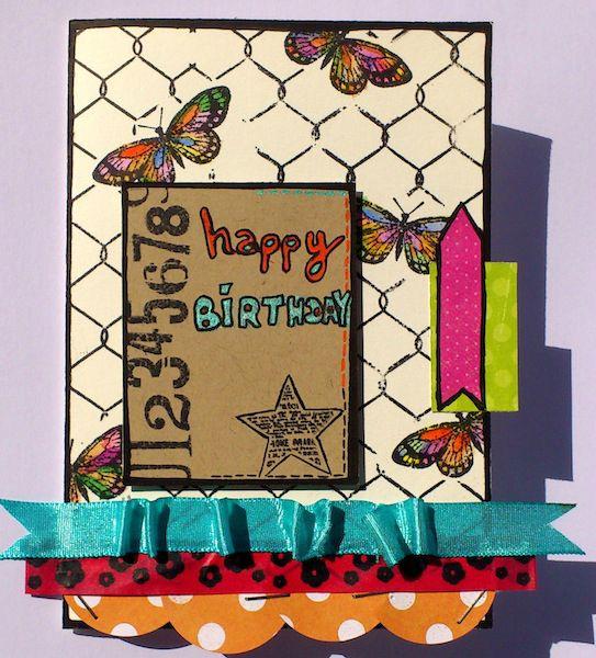 Carte anniversaire Sabine 2012