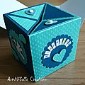 Carte naissance cube pop up - face 3