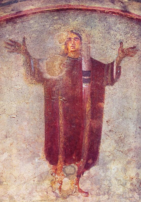 orante, catacombe de Priscille, 4e siècle