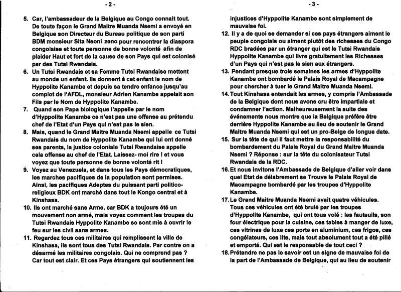 LES CONDAMNATIONS COLONIALES DE LA JUSTICE TUTSI RUANDAISE EN RDC B
