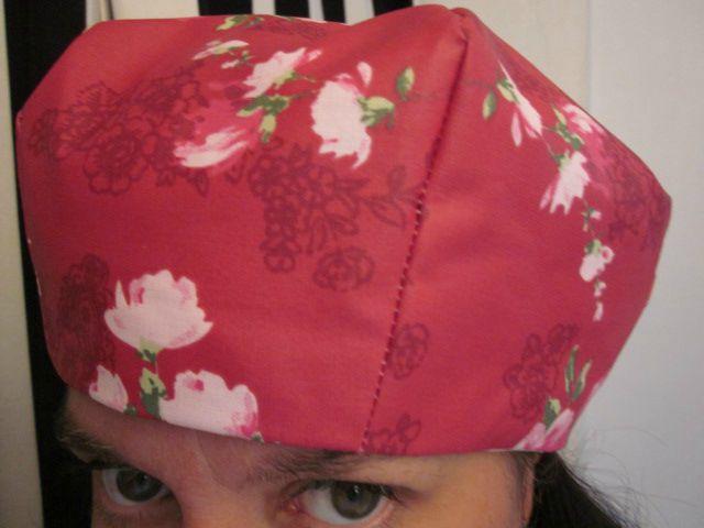 Chapeau de pluie framboise à fleurs (1)