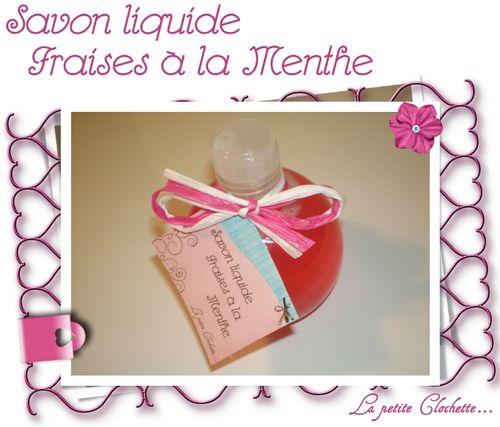 savon liquide fraise a la menthe