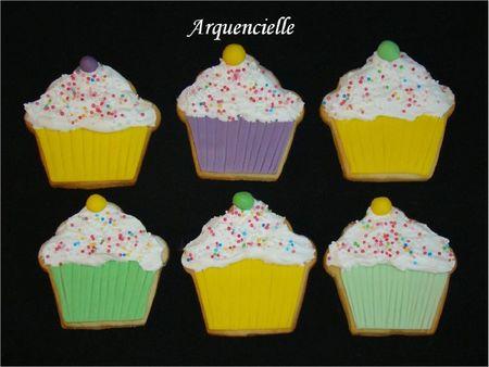 Biscuits déco muffin sablés décorés