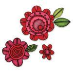 DIES TAMPONS SIZZIX FLOWERS FLEURS #6