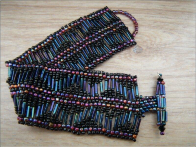 Bracelet tubes brown iris