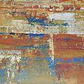 20 - Acrylique sur papier marouflé sur toile 120 x 65 cm
