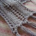 Echarpe grise...coton bambou
