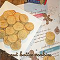 Peanut butter cookies de ma maman + english recipe