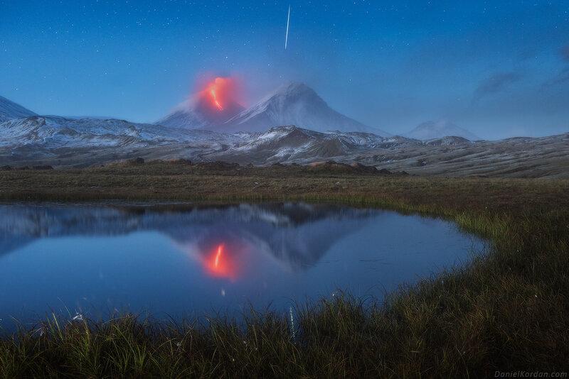 La portabilité qu'une étoile fuyante et un volcan
