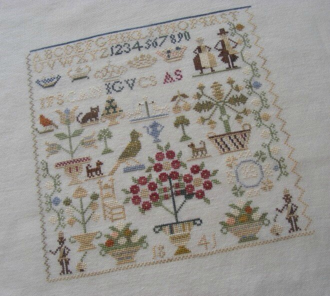 Little Dutch Sampler, brodé par Marinette