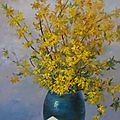 Grand bouquet de forsythias