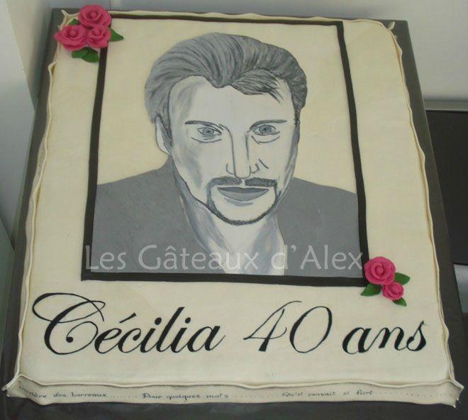 Gâteau Johnny Hallyday