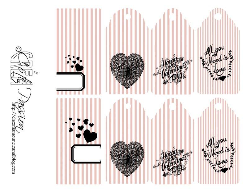 Coté Passion Valentine's Tags