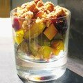 Salade de fruits en crumble