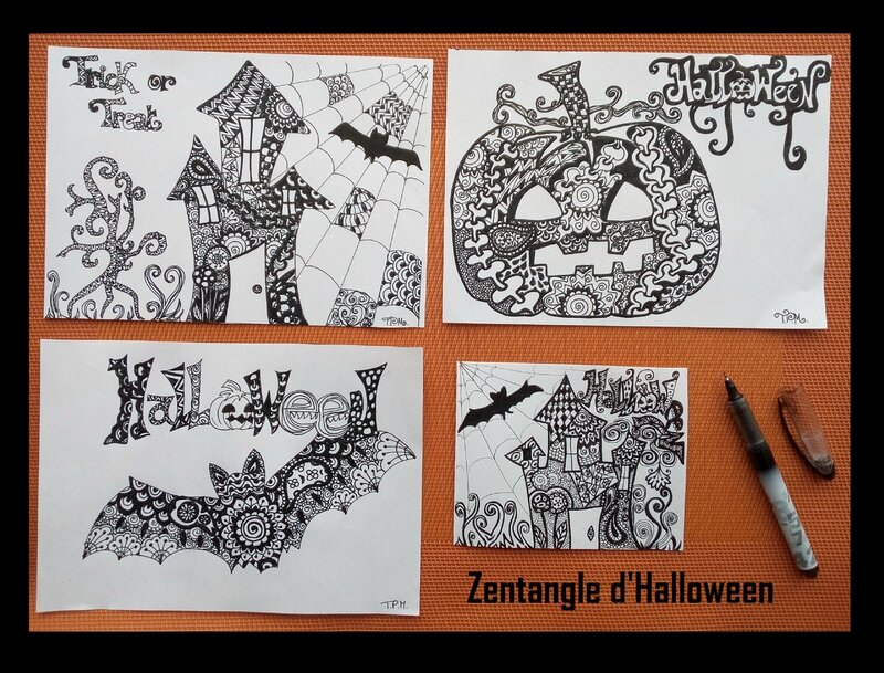 ZENTANGLE D'HALLOWEEN