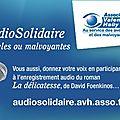 J'ai enregistré ma voix pour le 3ème livre audio solidaire!!
