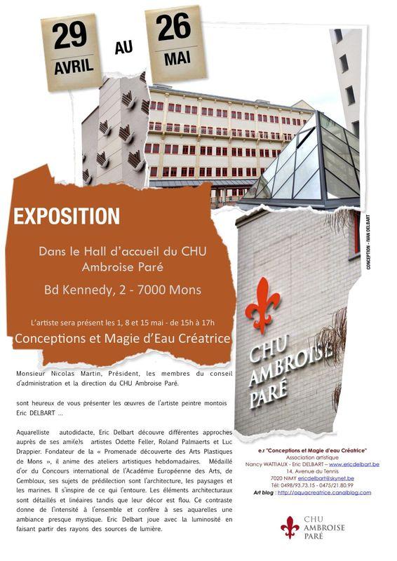 Affiche expo CHU Ambroise Paré