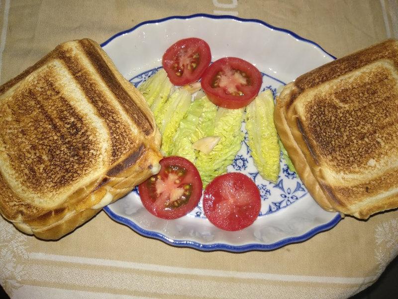 Croque-monsieur au jambon d'Aoste et fromage de comté