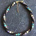 Collier spirale au crochet