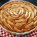 Tarte aux pommes amandine