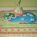 Gâteau tiana - la princesse et la grenouille
