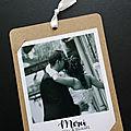 Remerciement de mariage polaroid et magnétique