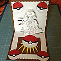 La carte kirigami pokemon