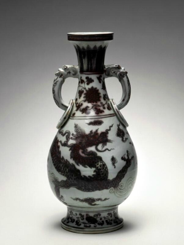 Vase with a dragon, Ming dynasty (1368-1644), Reign of the Hongwu emperor (1368-1398)