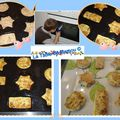 Petits gâteaux au thon, fromage blanc et mozzarrella