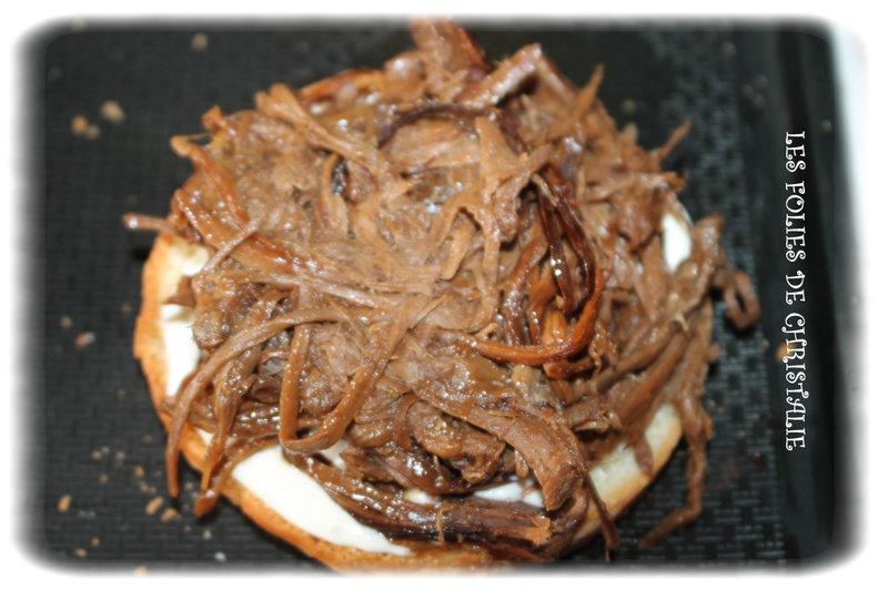 Burger effiloché chevreuil 2
