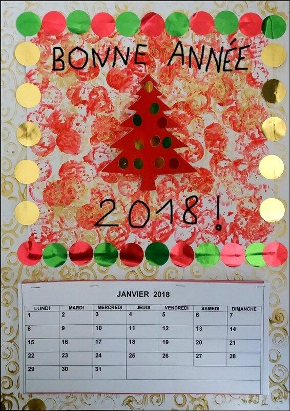 282_Noël et Nouvel an_Carte ou calendrier rouge et or (55B)
