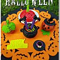 Citrouilles d'halloween, zebra cake ball