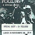 The pogues - lundi 24 novembre 1986 - zénith (paris)
