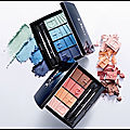 Colour gradation - palette regard - 4 couleurs blue - 4 couleurs coral - dior