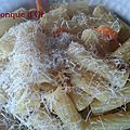Rigatoni au thon et carottes