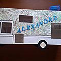 Mariage marie hélène et alexandre , urne camping car , livre d'or camping car