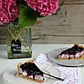 Cheesecake au mascarpone et confiture de myrtilles