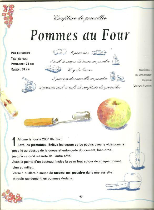 Recette dessin e les pommes au four le jardin de memere - Recette de cuisine pour l hiver ...