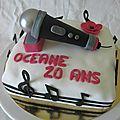 Gâteau musique avec micro
