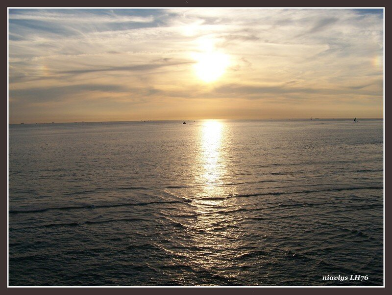 Coucher de soleil sur la baie Havraise