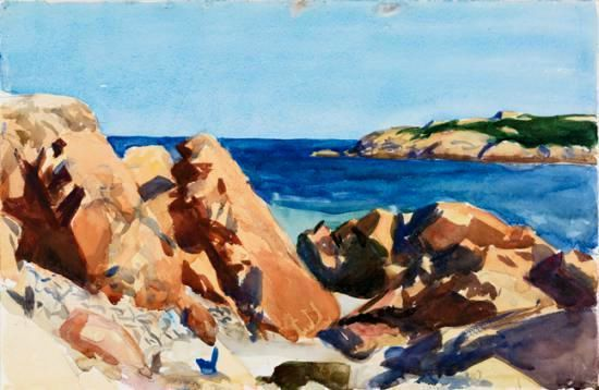 Edward Hopper Dories in a Cove 1914